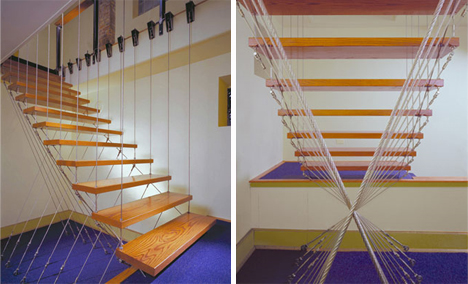 floating stairs berstein architecture chicago