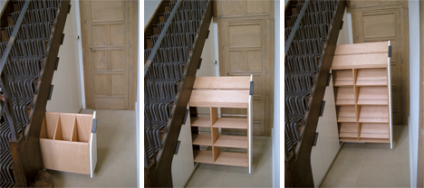 gamper martino hidden staircase storage