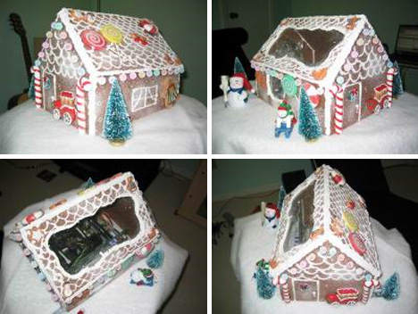 gingerbread house case mod