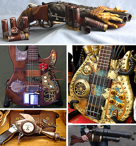Sexy As Sin Detailed Steampunk From Guns To Guitars