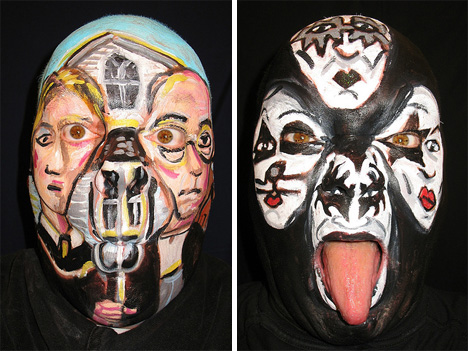 james kuhn awesome face painting american gothic kiss
