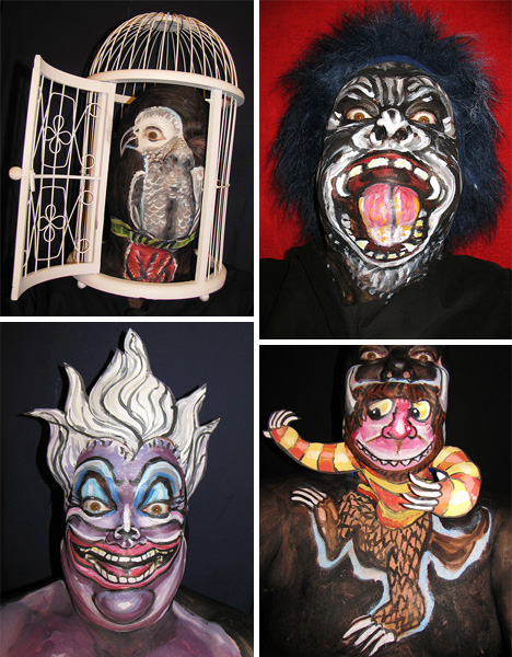 james kuhn unique face painting characters animals people
