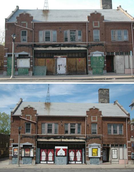 jeremy novy public art stenciles abandoned buildings