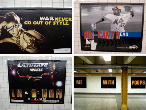 poster boy nyc subversive poster alteration art