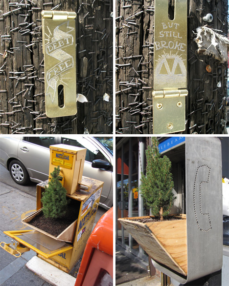posterchild unusual street art guerrilla gardening