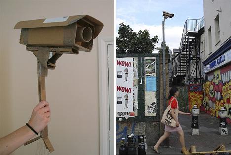 sam3 london cardboard security camera