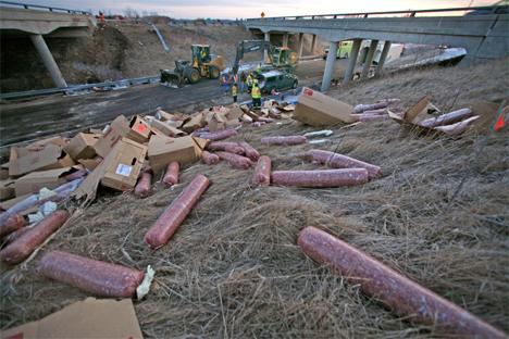 sausage-highway-spill