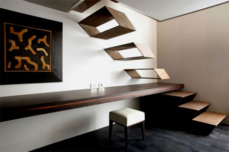 the gray hotel milan floating stairs
