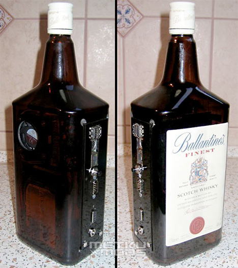 whiskey bottle case mod