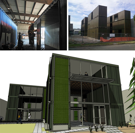 Hybrid seattle cargotecture office building urbanist - Container homes seattle ...