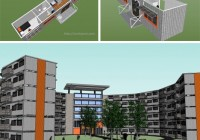 Student Dorms/Apartment Building Concept