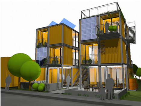 Mixed use retail apartment six plex urbanist for Retail apartment plans