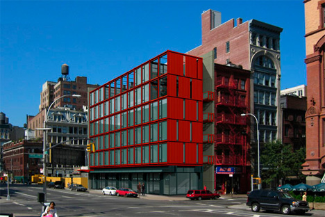 Lafayette Street Shipping Container Office Building New York Urbanist