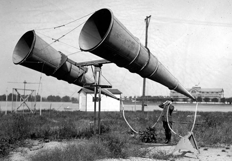 Two-horn aircraft locator, Washington D.C., 1921