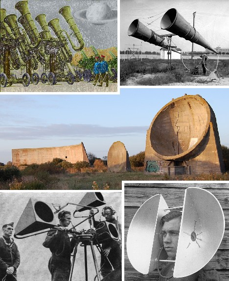 Sound Mirrors: Before Radar, Hearing Was Believing | Design + Ideas on WU :  ears architecture distant sound history