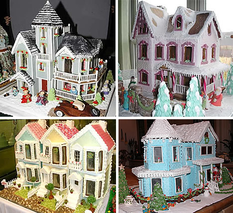 Model gingerbread house