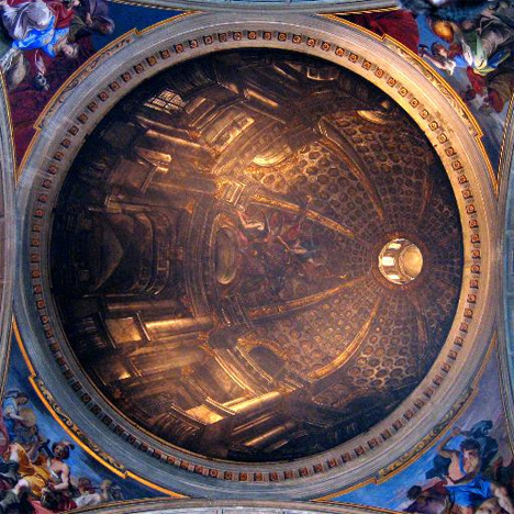 andrea pozzo ceiling dome st ignatius church