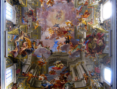 andrea pozzo st ignatius church rome ceiling fresco