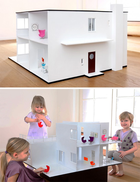 arne jacobsen home dollhouse