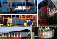 container hotels and schools