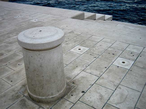 croatian sea organ detail