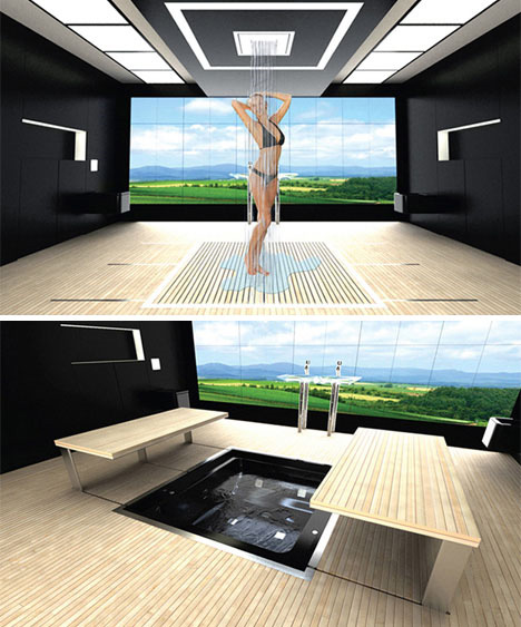 high tech futuristic bathroom design - Bathroom In Bedroom Design