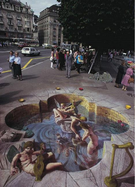 kurt wenner 3d chalk art