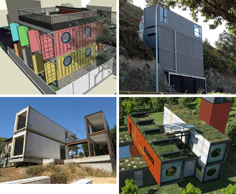 Crazy Cargo: 30 Steel Shipping Container Home Designs. via WebUrbanist