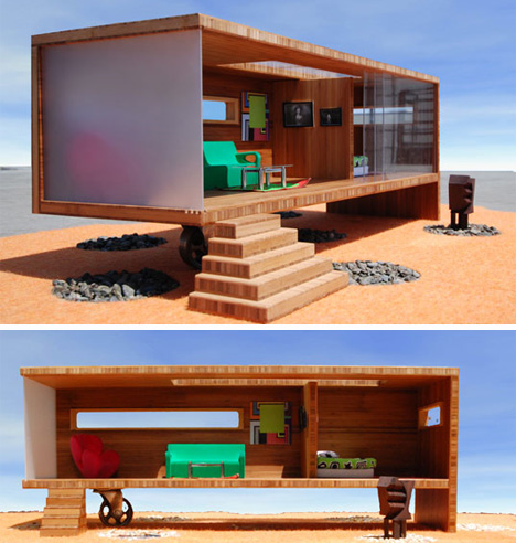 prefab modularean eco dollhouse