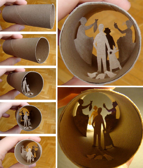 Tiny, Magical Worlds Inside Toilet Paper Rolls