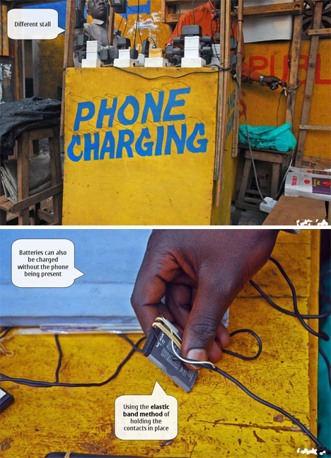 ugandan street phone charging booths