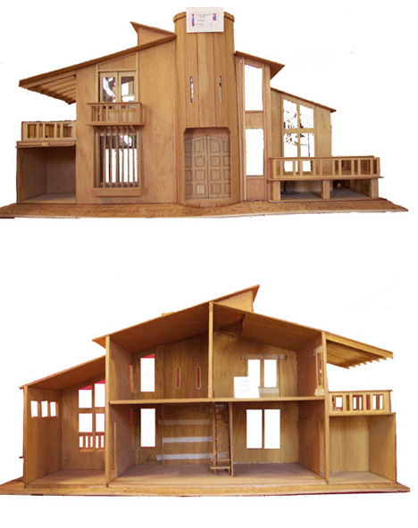 ultra modern doll house