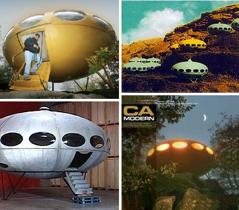 space home. Evoking Images Of Flying Saucers, Interplanetary Space Pods And Science Fiction Futurism, The Futuro House Offered Homeowners A Chance To Live In Future Home