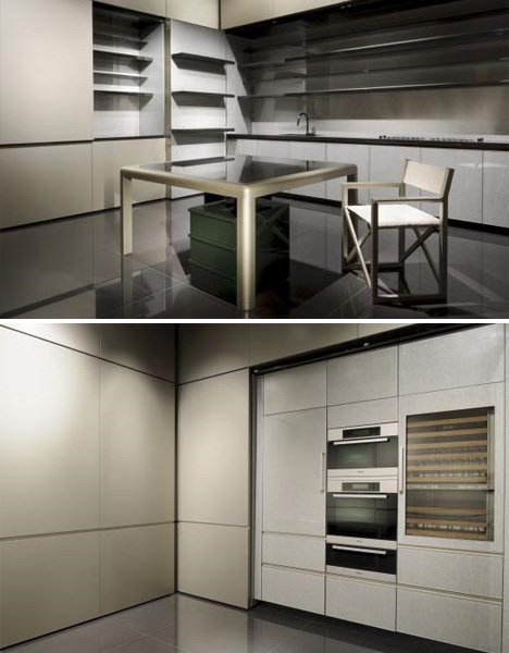Luxury Kitchen Folds Up When Not In Use