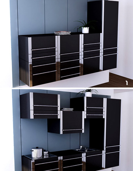 Space saving modular kitchen cabinets furniture fashion for Modular kitchen cupboard