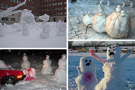 calvin and hobbes snowmen. fan of Calvin and Hobbes,