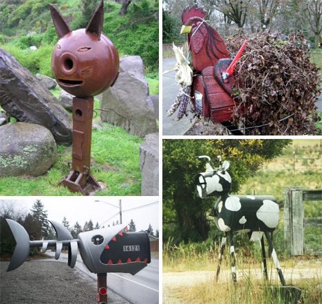 Special delivery 54 amazing unusual mailbox designs for Funny mailboxes for sale