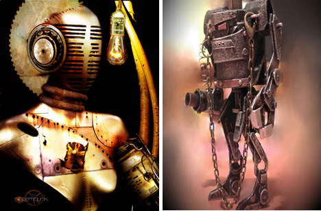 Gallery of Pseudo Victorian, Steampunkesque & Retro Robot Art