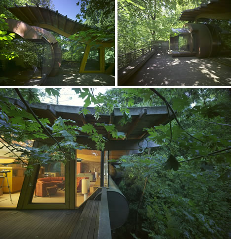 Wowsa Organic Architect Oshatz S Wilkinson Treehouse