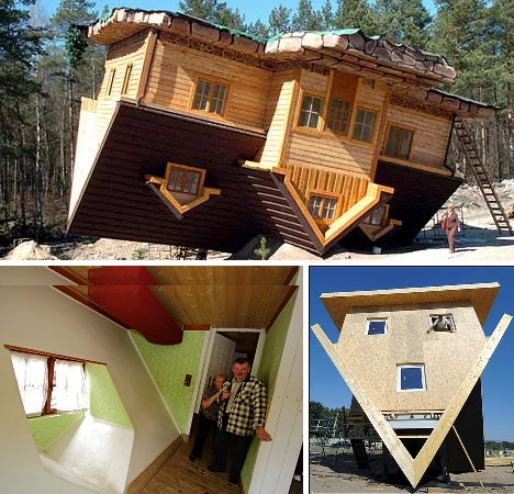 Flip this home 10 unbelievable upside down houses urbanist Polish house plans