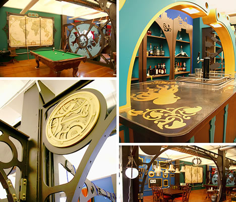 three rings office. steampunk themed office suite three rings e