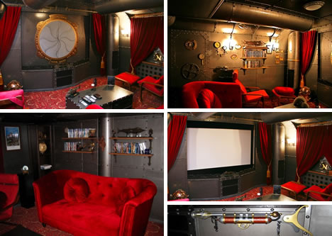 3 nautilus inspired home theaters