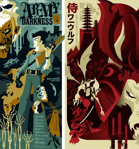 Modern Movie Poster Design Vintage Twist By Tom Whalen
