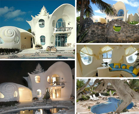 conch shell house isla mujeres mexico