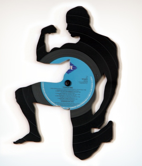 record silhouettes laser cut vinyl art by carlos aires