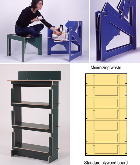 15 flat pack furniture designs ideas for saving space for Table design tool