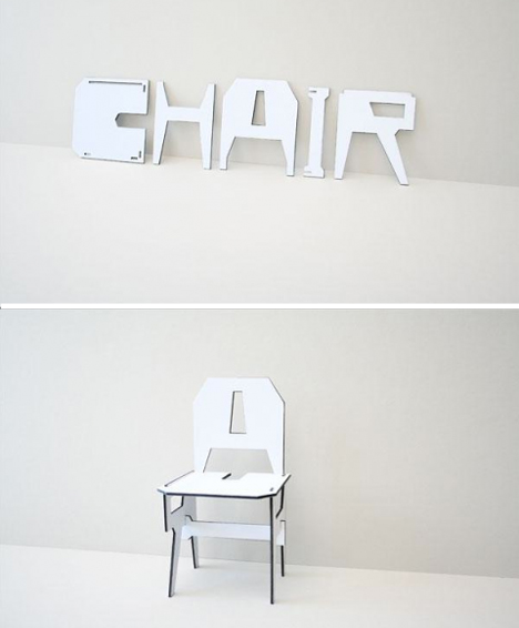 what is flat pack furniture. typographyinspired u0027chairu0027 chair what is flat pack furniture