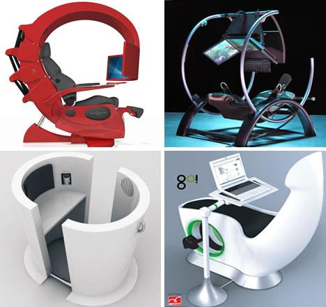 Fine Geeky Temptation 16 Slick Sick Stunning Workstations Machost Co Dining Chair Design Ideas Machostcouk