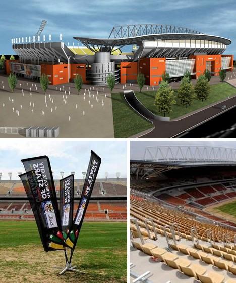 Stadium Lights Capacity: 10 South African Stadium Designs: 2010 FIFA World Cup