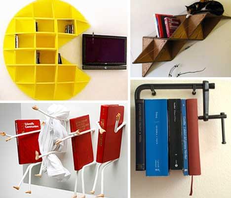 Ten ... & 25 (More!) Unique Book Shelving u0026 Storage Solutions | Urbanist
